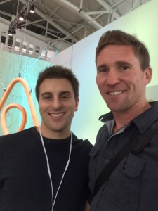 Scott Shatford founder of rentingyourplace.com with CEO of Airbnb Brian Chesky